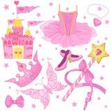 Ballerina Set公主的 库存照片