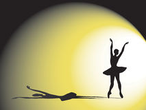Ballerina and shadow Stock Photography