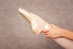 Ballerina shoe Stock Images