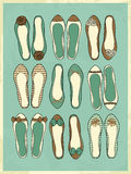 Ballerina Shoes Collection Stock Photo