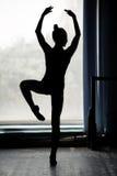 Ballerina silhouette dancing Royalty Free Stock Photo