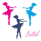 Ballerina silhouette set Royalty Free Stock Image