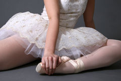 Ballerina Sitting #1 Stock Photo