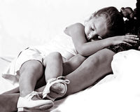 Ballerina sleeping Royalty Free Stock Photo