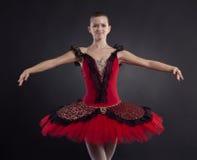 Ballerina smiling stock photography