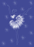 Ballerina - snowflake. Graceful dancer dressed as a snowflake (figure Stock Image