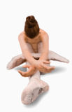 ballerina som gör elasticiteter Arkivfoton