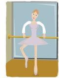 ballerina som griper benlyftande polen Royaltyfri Bild