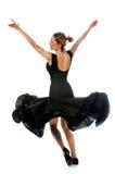 ballerina som utför twirl arkivfoton