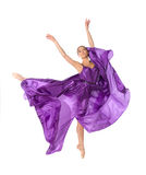 Ballerina in sprong Royalty-vrije Stock Afbeelding