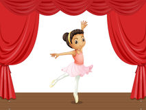 Ballerina on stage Royalty Free Stock Photos