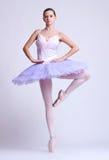 Ballerina in Stellung Stockfotos