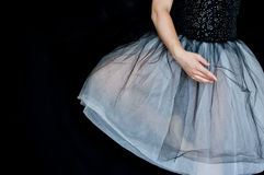 Ballerina in Stellung Stockfotografie