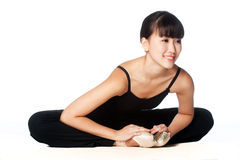 Ballerina Stretching Royalty Free Stock Photos