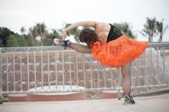Ballerina stretching Stock Photos
