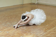 Ballerina stretching Stock Photography
