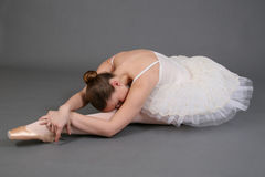 Ballerina Stretching 2 Stock Photos
