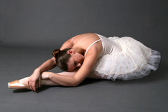 Ballerina Stretching Stock Image