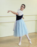 Ballerina in a studio Royalty Free Stock Photos