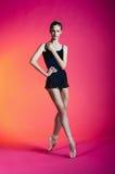 Ballerina in a studio photo Stock Photography