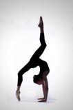 Ballerina in a studio photo royalty free stock image