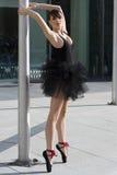 Ballerina su pointe Fotografia Stock Libera da Diritti