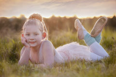 Ballerina sunset Royalty Free Stock Photos