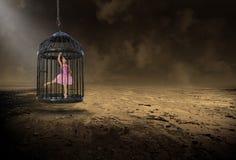 Ballerina surreale, balletto, ballo, ragazza, bambino fotografia stock libera da diritti