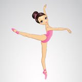 Ballerina-Tanzen auf Pointe Stockfotos