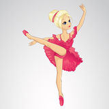Ballerina-Tanzen im rosa Kleid Stockfotografie