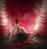 Ballerina at theater Royalty Free Stock Image