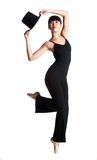 Ballerina with Top Hat Stock Photo