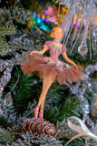 Ballerina toy Christmas decoration. Royalty Free Stock Images