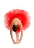 Ballerina in tutu rosso Immagini Stock Libere da Diritti