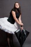 Ballerina with umbrella Stock Photography