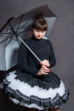 Ballerina with umbrella Stock Photography