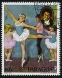 Ballerina und das Porträt von Beethoven durch Cydney Stockbilder