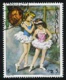 Ballerina und das Porträt von Debussy durch Cydney Stockbilder