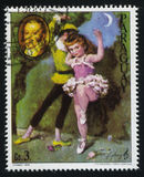Ballerina und das Porträt von Gioacchino Rossini durch Cydney Lizenzfreie Stockfotografie