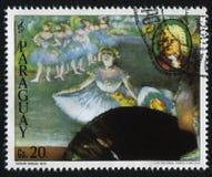 Ballerina und das Porträt von Johann Sebastian Bach durch Edgar Deg Stockfotografie