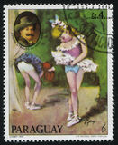 Ballerina und das Porträt von Johann Straus das jüngere durch Cydne Stockfotos