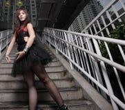 Ballerina urbana Immagini Stock