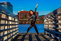Ballerina urbana Fotografia Stock
