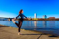 Ballerina urbana Immagine Stock
