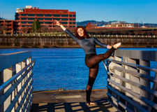 Ballerina urbana Fotografie Stock