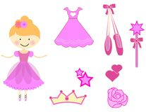 Ballerina vector set royalty free illustration