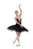 Ballerina wearing black tutu Stock Image