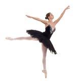 Ballerina wearing black tutu royalty free stock photography
