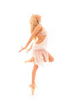 Ballerina in white Royalty Free Stock Image