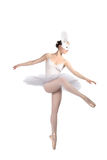 Ballerina in a white skirt, isolated Royalty Free Stock Photos
